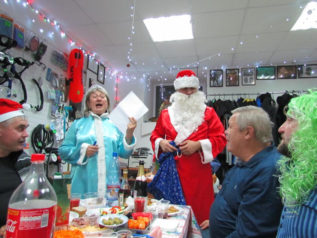 Завершение сезона 2013 года, как положено с Дедом Морозом и Снегурочкой.